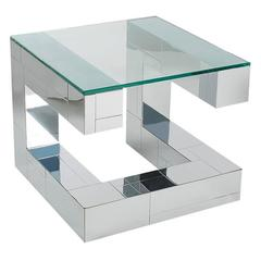 Paul Evans Cityscape Chrome and Glass Cocktail Table, Mid-Century Modern