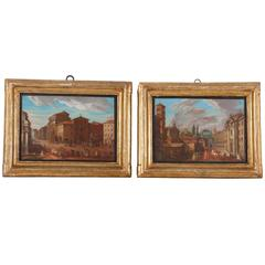 Pair of Italian 18th Century Roman Views