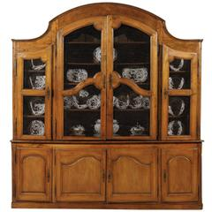 Large 18th Century French Provincial Bibliotheque Cabinet in Fruitwood