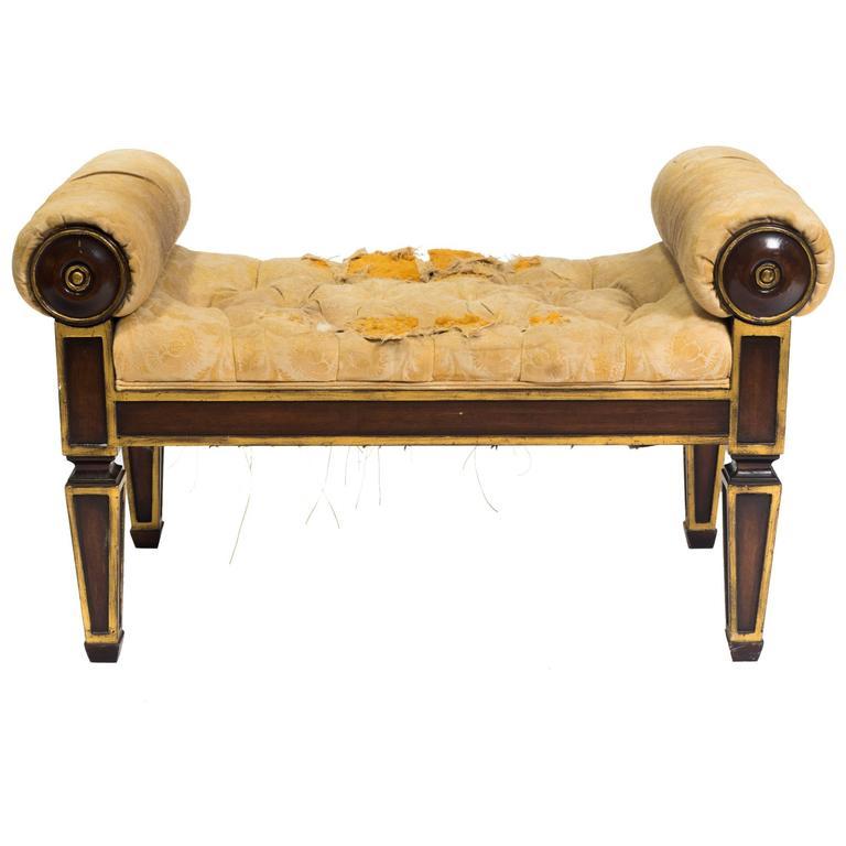 1920s Upholstered Bench