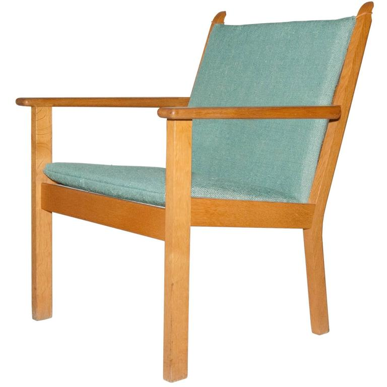 Hans J. Wegner Oak Lounge Chair by GETAMA