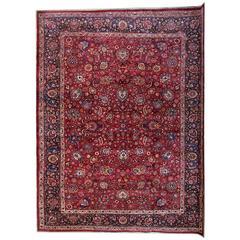 Antique Persian Mashhad Carpet