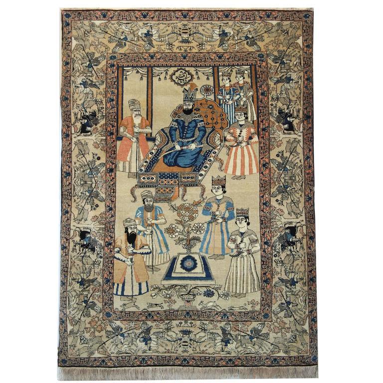 Antique Rugs, Persian Rugs, Kirman Carpet from Iran