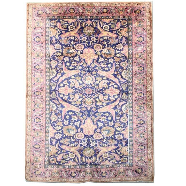 Antique Rugs Pure Silk Turkish