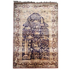 Antique Rugs, Pure Silk Rugs Turkish Rugs Handmade Carpet Oriental Rug for Sale