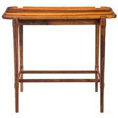 A Rare Early Solid Walnut Tray-top Table, With Production Stamp Number 1
