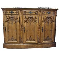 19th Century French Oak Buffet