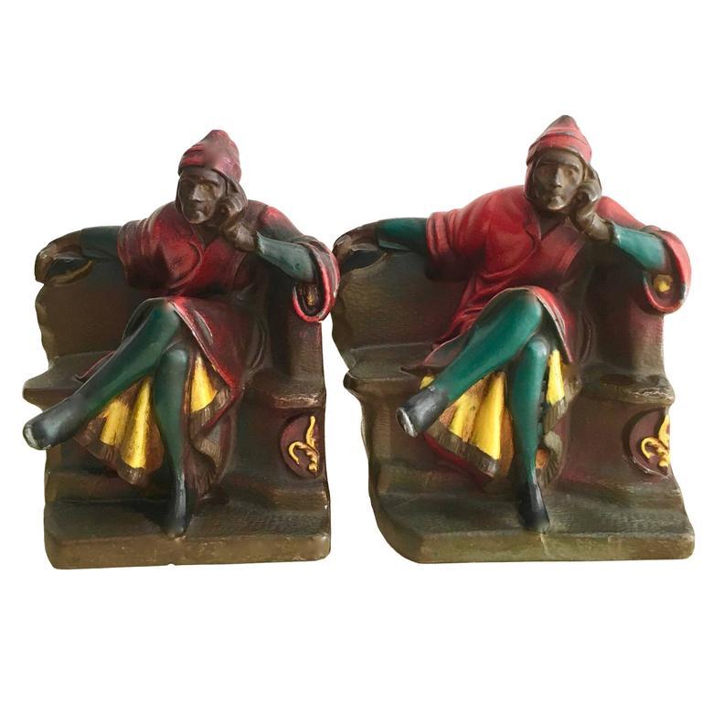 Pair of Dante Bookends