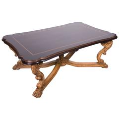 Regency Style Ebonized and Gilt Coffee Table