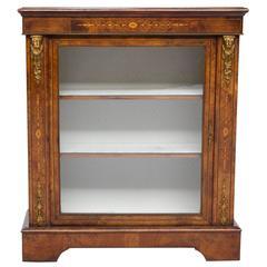 19th Century English Inlaid Narrow Cabinet
