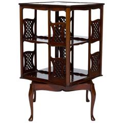English Mahogany Revolving Bookstand