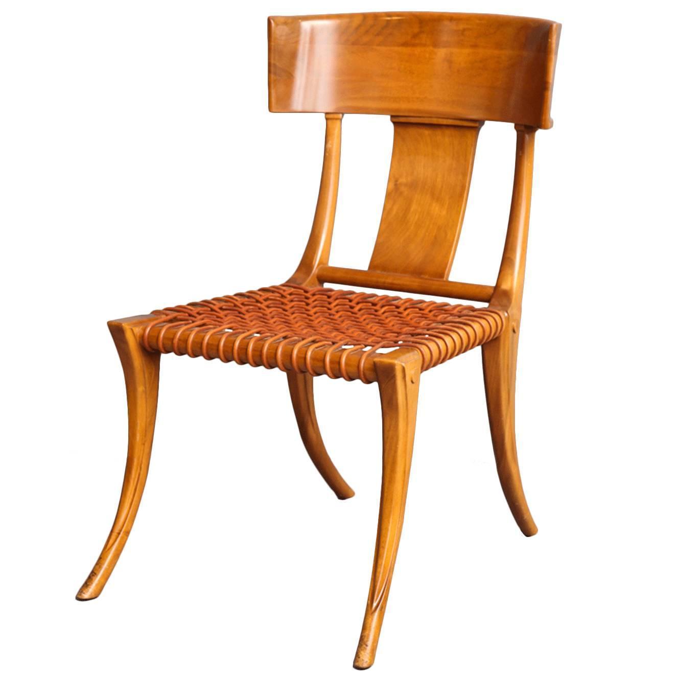 T H Robsjohn Gibbings Walnut Klismos Chair circa 1965 at