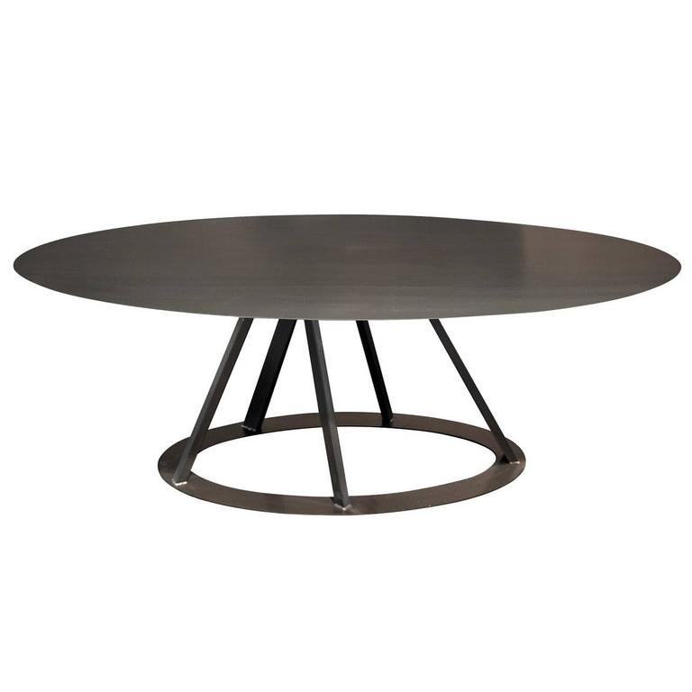 Big Irony Oval Table For Sale at 1stdibs
