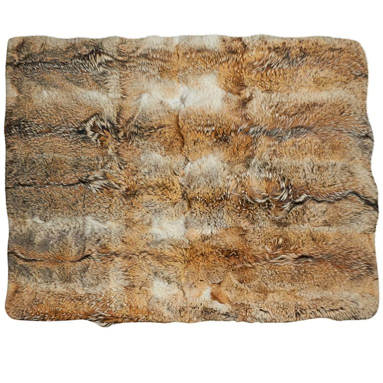 Coyote-fur blanket, ca. 2000s