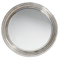 Modernist Italian Chrome Mirror