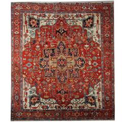 Antique Persian Rugs, Serapi Carpet from Heriz