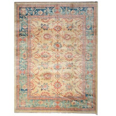 Handmade Rug Oriental Ziegler Mahal Persian Rugs, Style Large Living Room Rugs