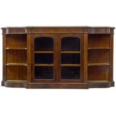 19th Century Victorian Inlaid Walnut Credenza