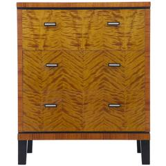 20th Century Art Deco Birch Chest of Drawers
