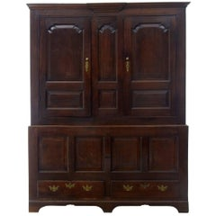 18th Century English Oak House Keepers Cupboard