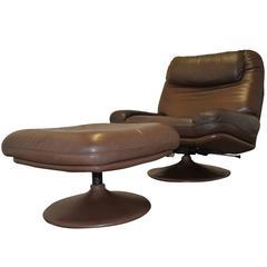 Vintage De Sede Lounge Armchair and Ottoman