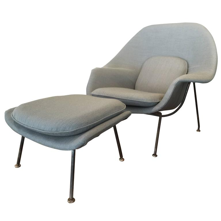 this early eero saarinen womb chair and ottoman for knoll is no
