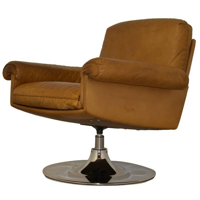 Vintage De Sede DS 31 Lounge Swivel Armchair 1970`s