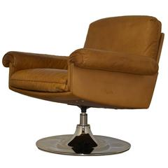 Vintage De Sede DS 31 Lounge Swivel Armchair 1970`s