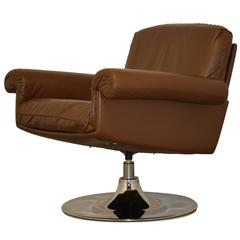 Vintage de Sede Ds 31 Lounge Swivel Armchair, 1970s
