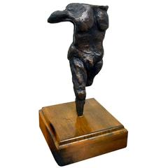Abstract Figurative Bronze by Harold Kaplan