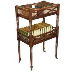 Regency Mahogany Book Table