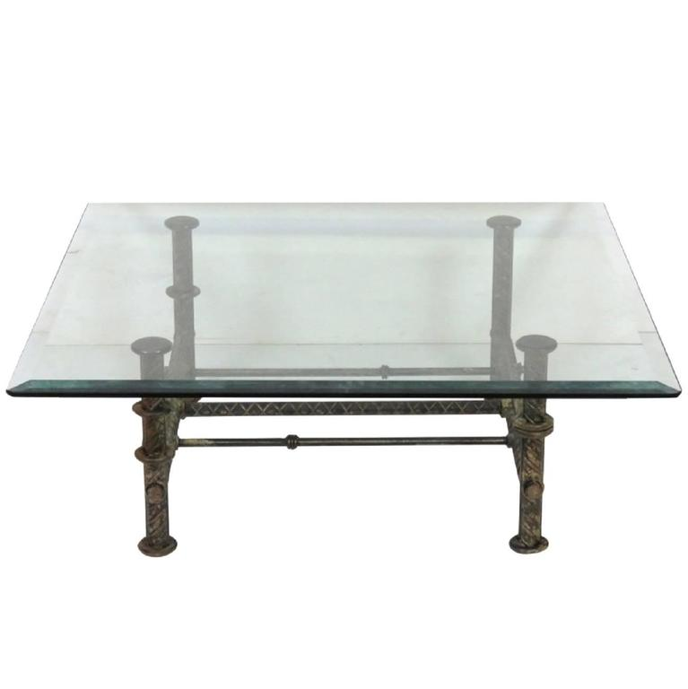 Https Www 1stdibs Com Furniture Tables Coffee Tables Cocktail Tables Industrial Design Iron Glass Cocktail Table Id F 5357653
