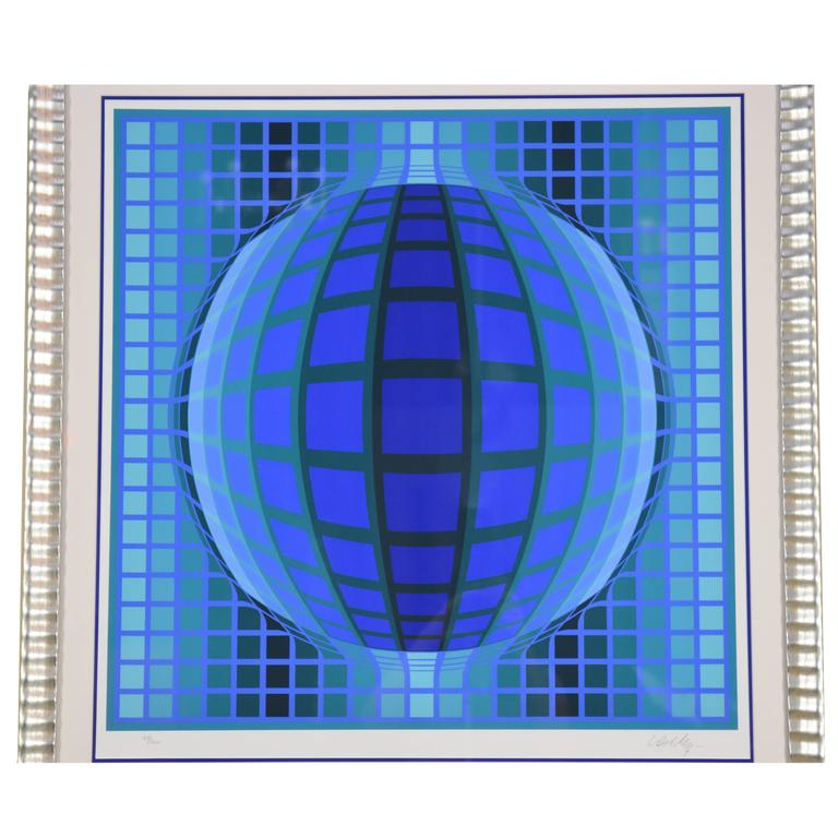 Victor Vasarely Signed and Numbered Screen Print