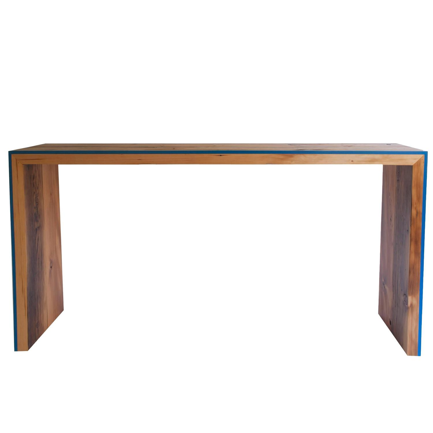 Monster Island Console Table in Reclaimed Fir, Edged in ...