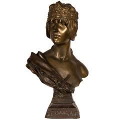 Bronze Art Nouveau Orientalist Bust of Herodias by Georges Coudray, France