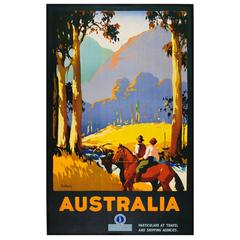 "Original Vintage 1920s Travel Advertising Poster by James Northfield ""Australia"""