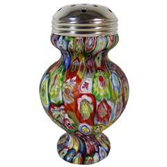 Fratelli Toso Murrine Murano Millefiori Glass Muffineer / Sugar Shaker