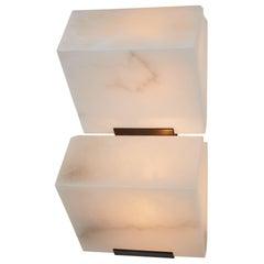 Double Sloping Block Wall Lamp by Pierre Chareau Model DBA 109