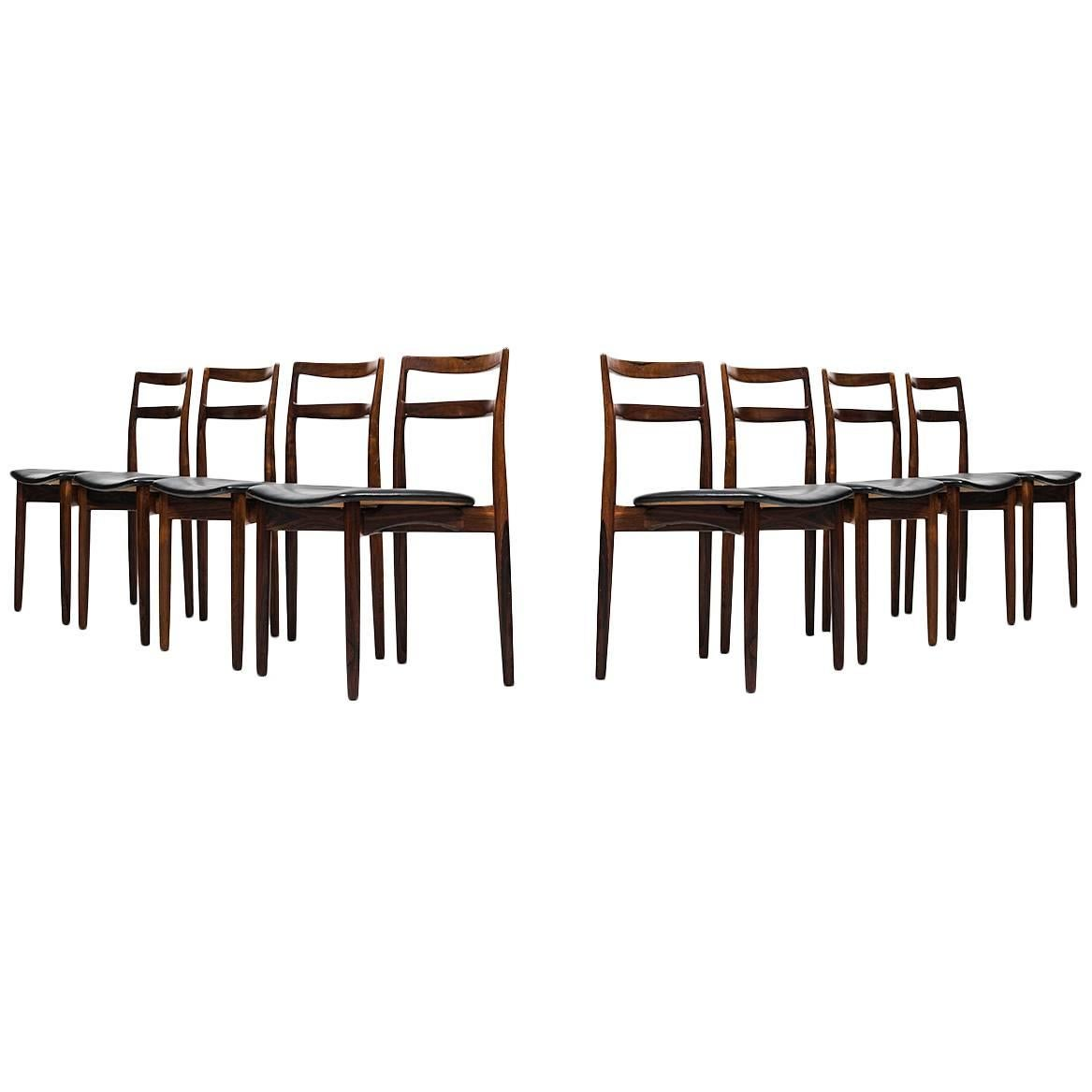 Harry Østergaard Dining Chairs Model 61 Produced by Randers Møbelfabrik