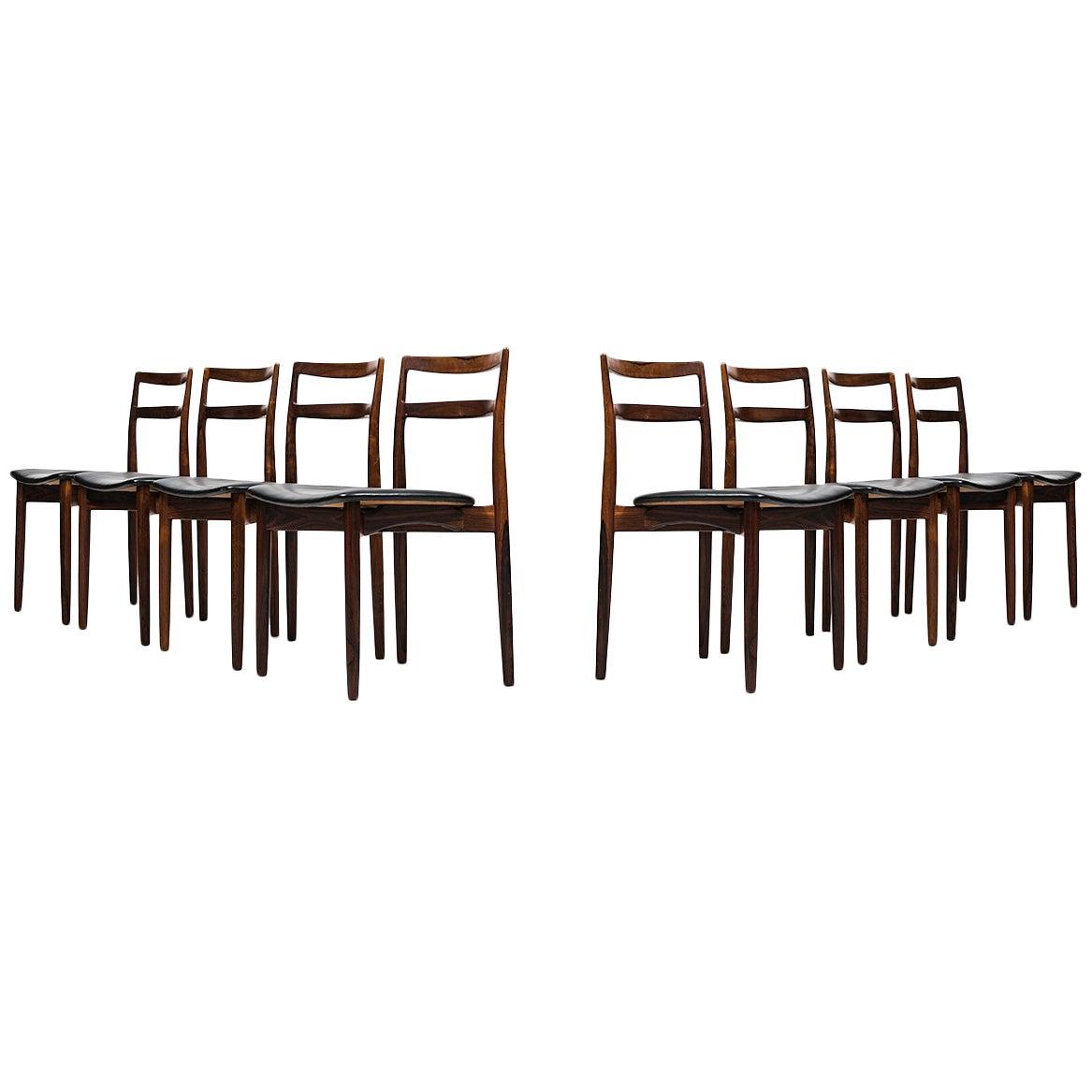 Harry Østergaard Dining Chairs Model 61 Produced by Randers Møbelfabrik