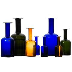 Otto Brauer Glass Vases Produced by Kastrup Holmegaard in Denmark