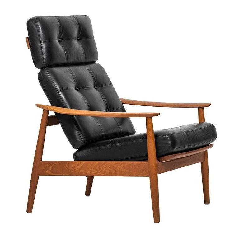 Arne Vodder Reclining Chair Model FD-164 by Cado in Denmark