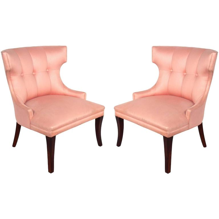 Pair Of Glamorous Hollywood Regency Chairs For Sale
