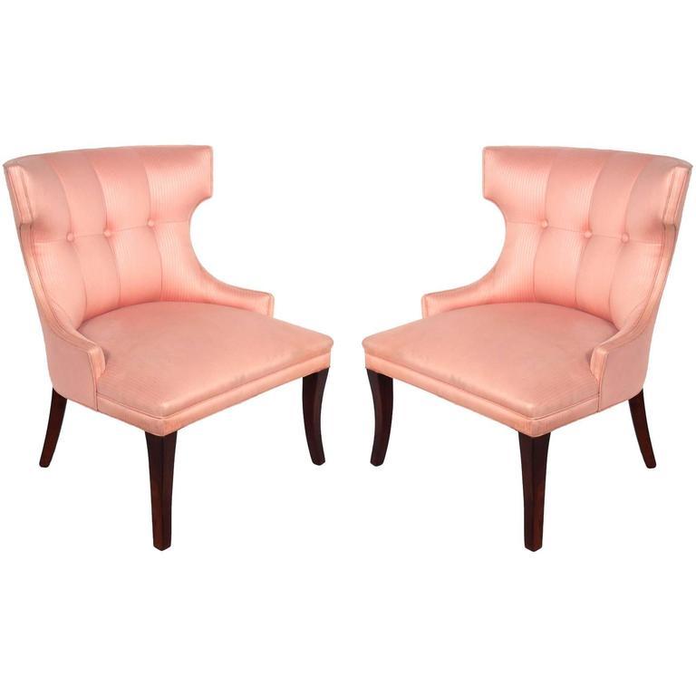 Genial Pair Of Glamorous Hollywood Regency Chairs