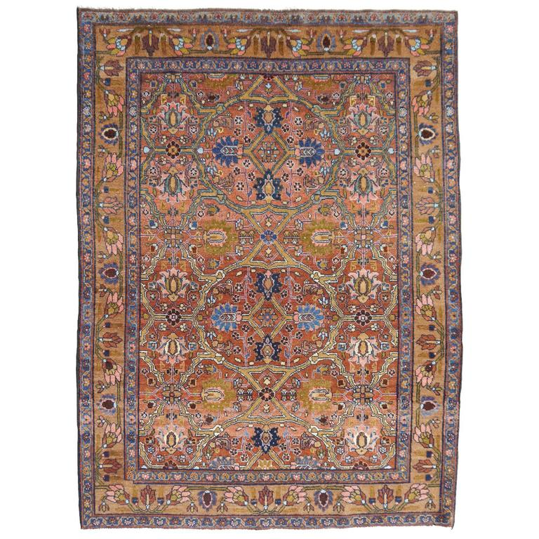 Antique Persian Rug Sultanabad For Sale