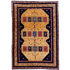 Rare Tribal Persian Vintage Rug with Natural Dyes