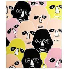 'Peeping Toms' Portrait Painting by Alan Fears Pop Art