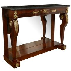 An Empire Ormolu-Mounted Pier Console