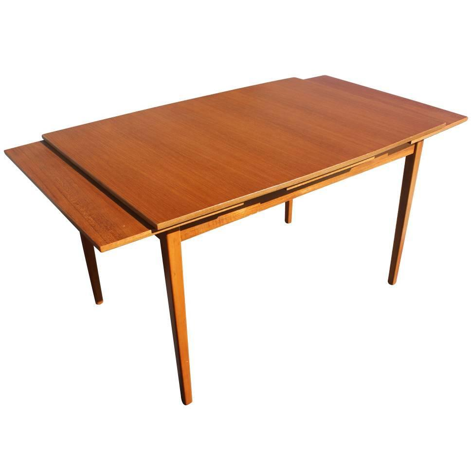 Dining Room Table Extender: Vintage Danish Teak Extension Dining Table For Sale At 1stdibs