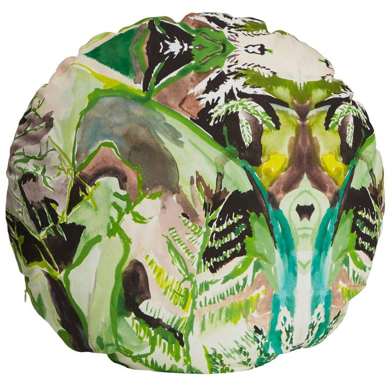 Circle Fern Pillow For Sale